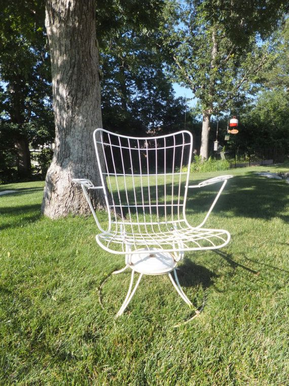 Vintage Homecrest Rocking, Swivel Chair,White Welded Steel,Mid Century  Modern, ArmChair,Steel Chair,Patio,Tub Chair,Retro,Patio Set,Porch