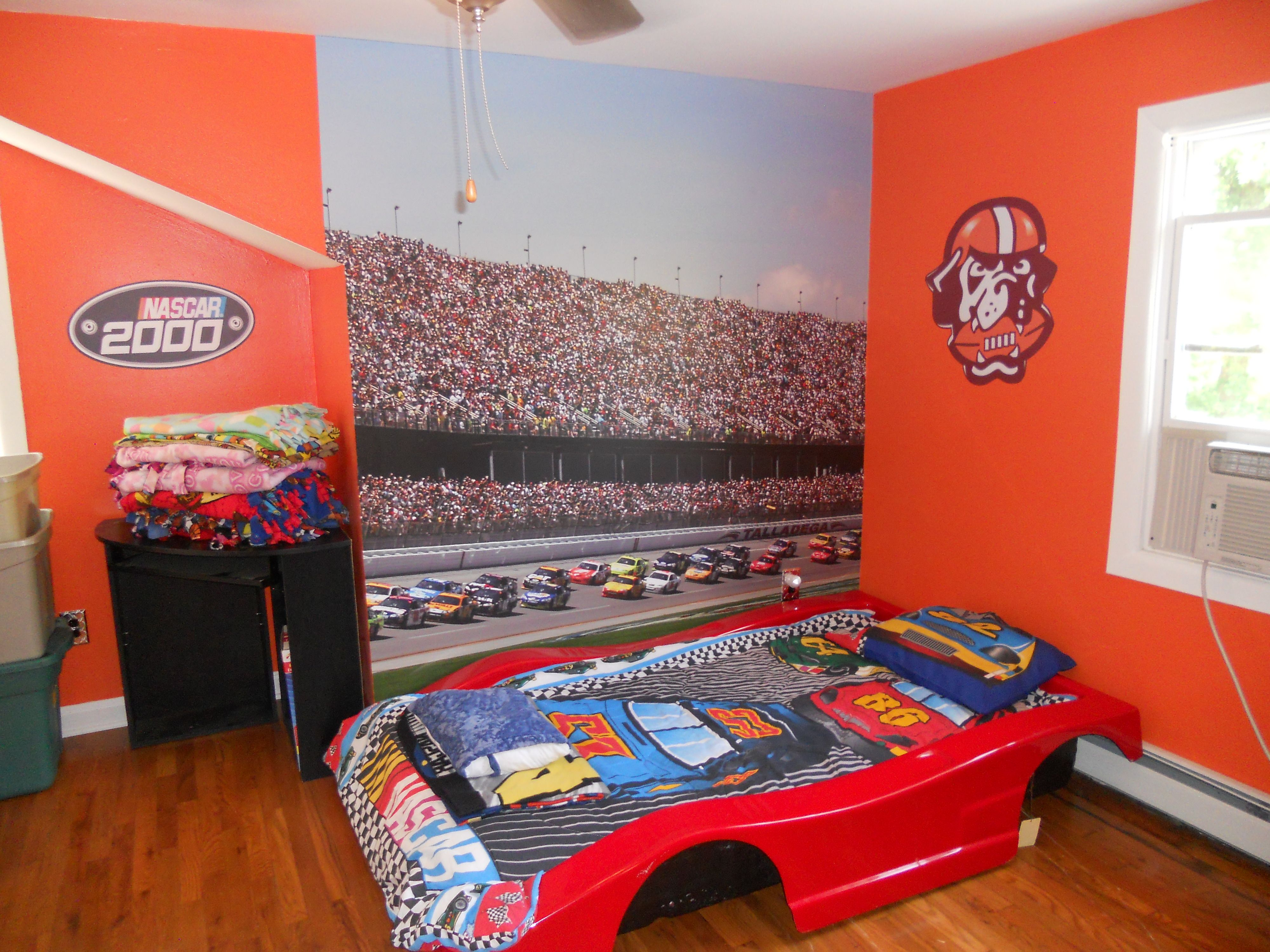 Room. NASCAR bedroom wall wrap   For the Home   Pinterest   Bedrooms