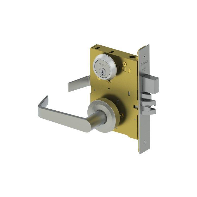 Hager 3857s Grade 1 Sectional Mortise Classroom Security Door Lever Set With Sta Satin Chrome Mortise Lock Keyed Entry C In 2020 Door Levers Mortise Lock Security Door