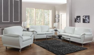 Robyn White Sofa | sofas | Leather living room set, Modern ...