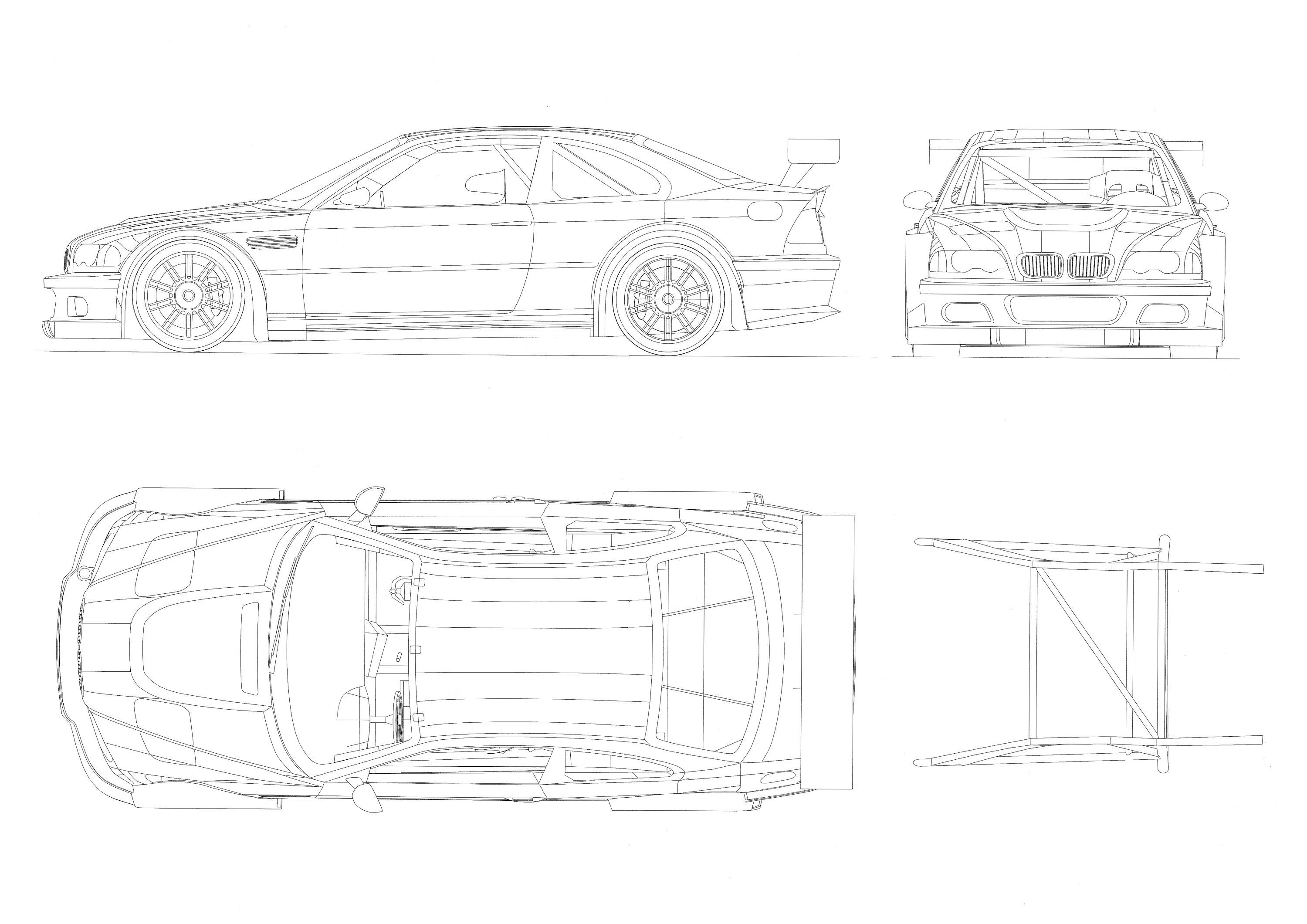 Bmw M3 Gtr Car From The Game Paper Model Kit 3d Paper