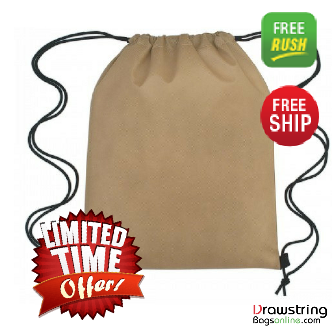 Custom Drawstring Bags Non Woven Sports Pack Polypropylene