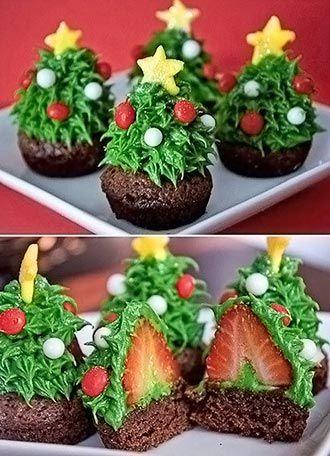 Cupcakes e ideias para enfeitar a mesa no Natal - Vila do Artesão |  Cupcakes natalinos, Receitas de sobremesas rapidas, Assados para o natal