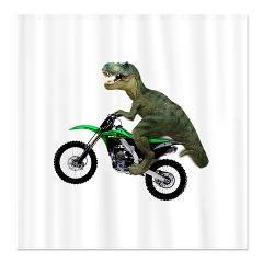 Dirt Bike Motorcycle Riding Tyrannosaurus Rex T Rex King Of