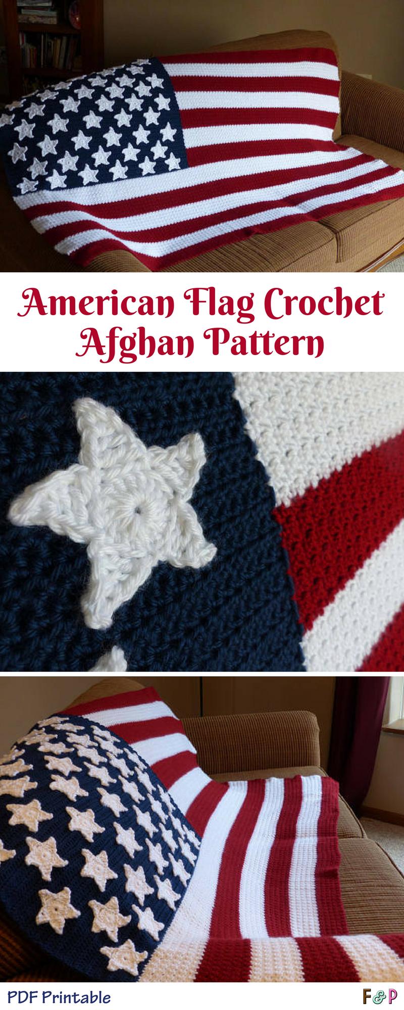 Fantastic Patriotic Crochet Afghan Patterns Gallery - Great Sewing ...