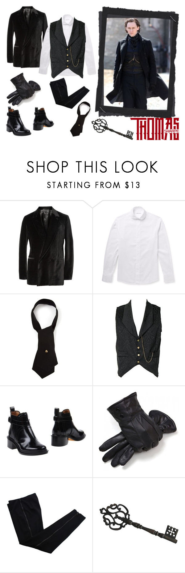 """""""Thomas Sharpe"""" by smile-2528 ❤ liked on Polyvore featuring Berluti, Michael Bastian, Chanel, Givenchy and COSTUME NATIONAL"""