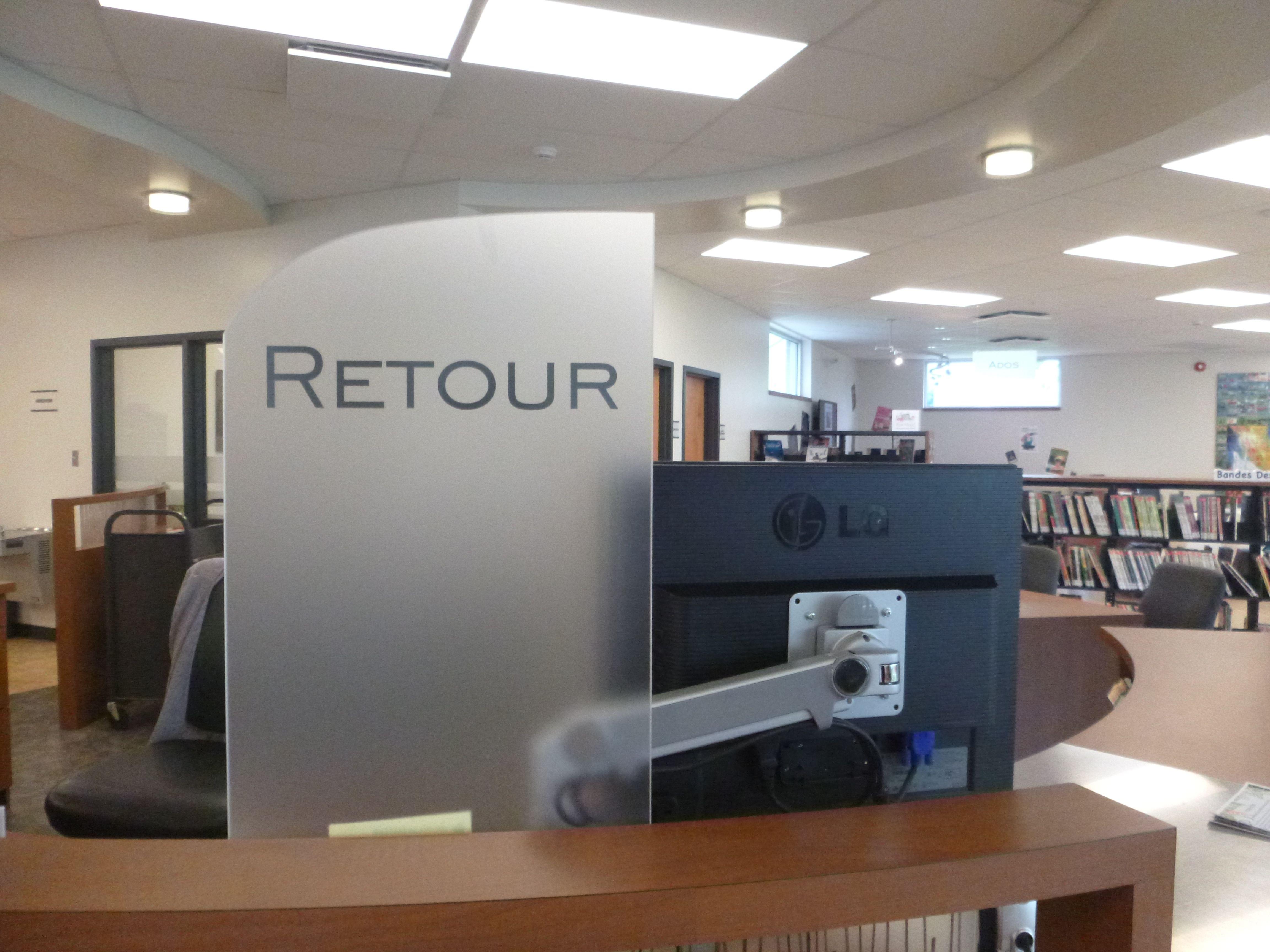 am nagement signalisation de la biblioth que municipale. Black Bedroom Furniture Sets. Home Design Ideas