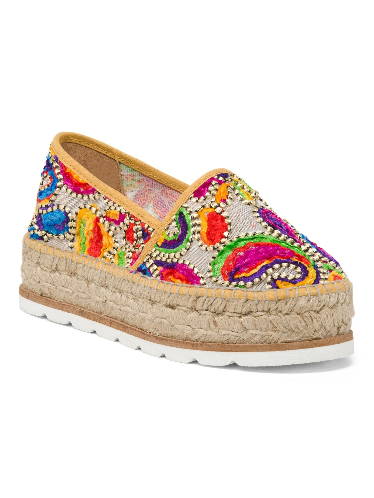 e9b525c6d Made In Spain Multi Color Embroidery Shoes Size Chart, Espadrilles, Spain,  Textiles,
