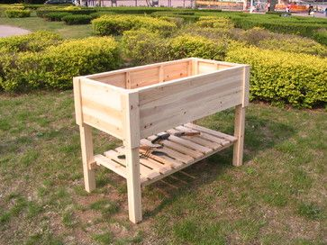 Raised Garden Beds Made Of Chinese Fir Outdoor Planters Hong