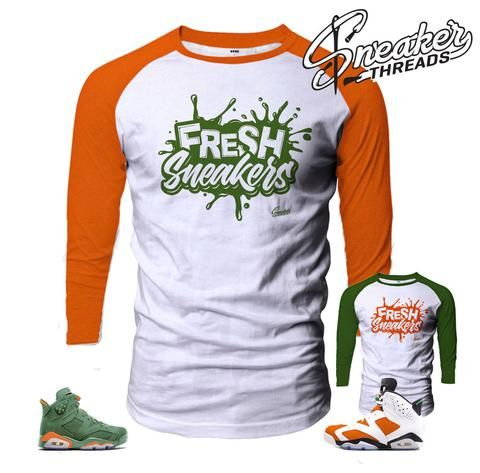 0d340f04a41e Fresh sneakers raglan shirts match Jordan 6 gatorade be like mike.