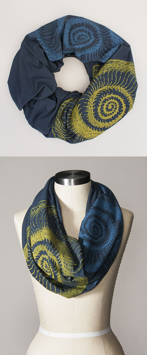 """These infinity scarves are the softest ever organic cotton + bamboo blend, perfect for year round use.  They are lofty enough to make a statement but not so big that they compete with your face. Polished, pretty, and unendingly cozy.  Plus, part of what makes each scarf so spectacular is the size. The 70"""" circumference is a perfect length to wrap twice around your neck with plenty of room to spare, and the 24"""" width is perfect for nursing moms."""