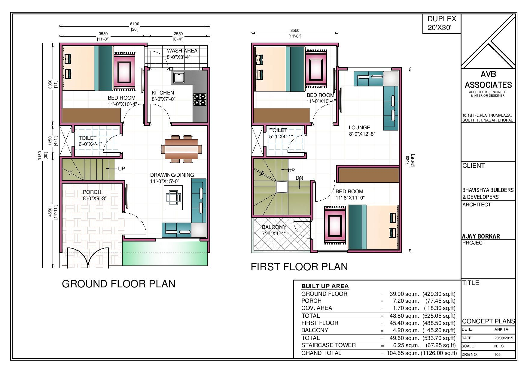 20x30 site plan of a house