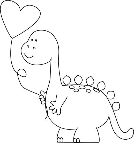 Dinosaur Pictures Black And White Google Search Valentines