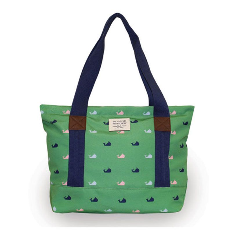 Windsor Whale Tote Sloane Ranger Preppy Look Style Song Canvas