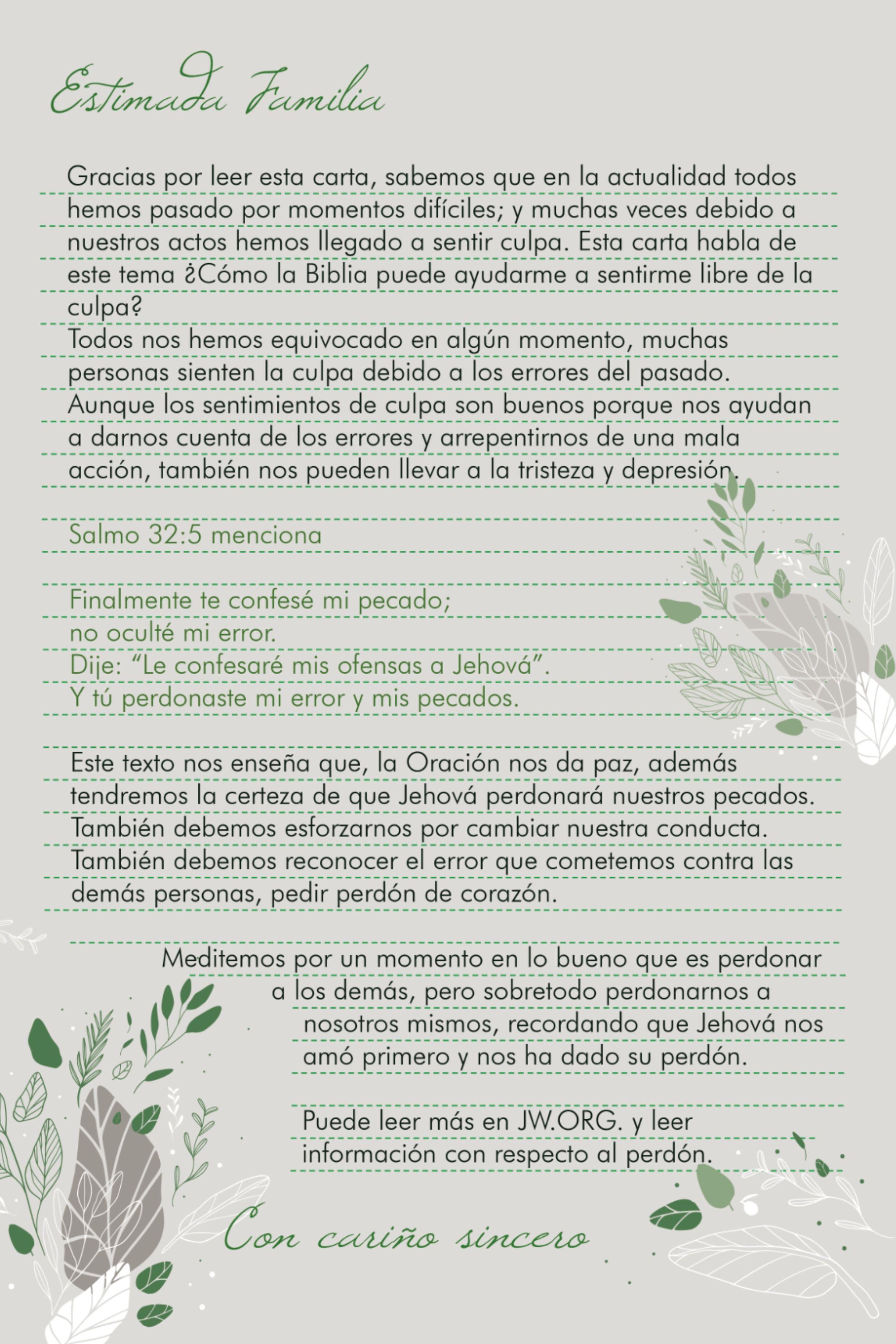 Pin En Ejemplos De Cartas Para Predicar