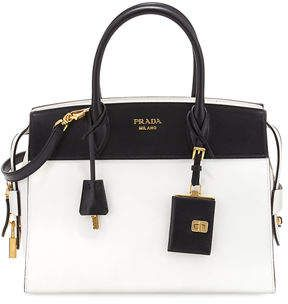 0f98106ccfb10 Prada Esplanade Medium Bicolor City Satchel Bag   Bolsinhas ...