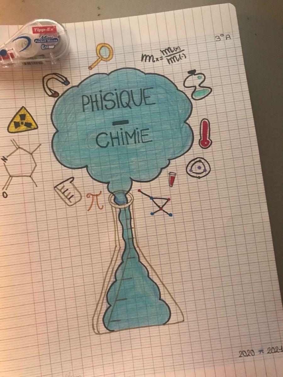 Page de garde Physique Chimie 🧬   Cahier de dessin, Couvertures ...