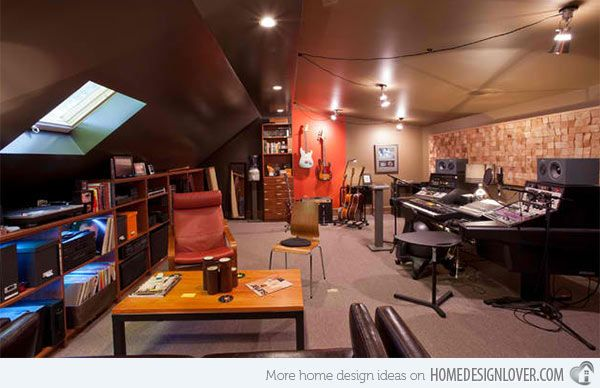 15 Design Ideas For Home Music Rooms And Studios Home Music