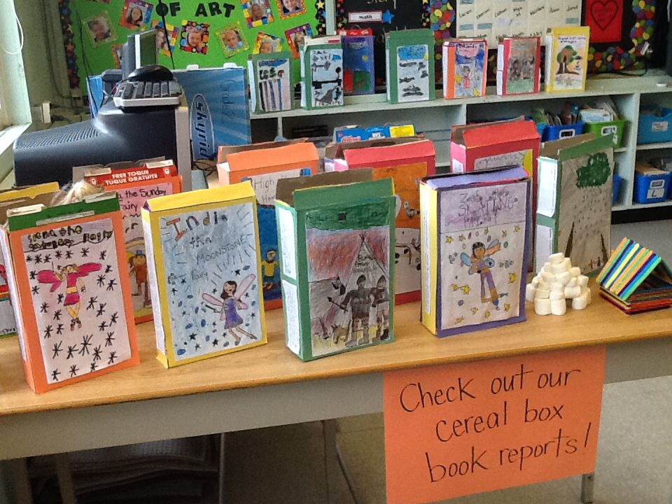 Gr 2 cereal box book reports Ideas From My Classroom - cereal box book report sample