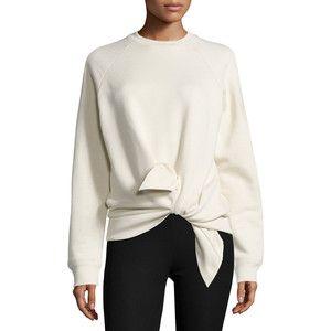 Joseph Knotted Cotton Raglan Sweatshirt