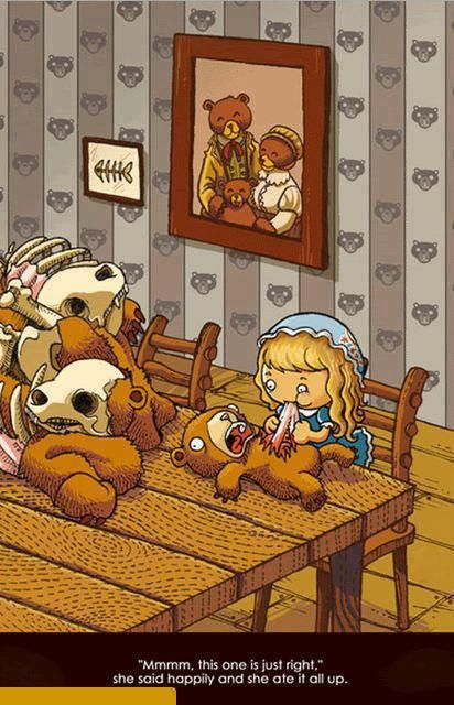 An awesome twist on Goldie Locks and the three bears