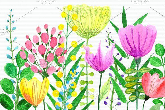 Flowers of the Valley Clip Art Set by Tati Bordiu on @creativemarket