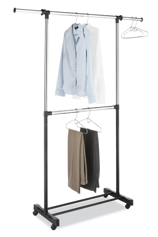 Amazon.com   Whitmor 6021 3081 BB Adjustable Two Rod Garment Rack