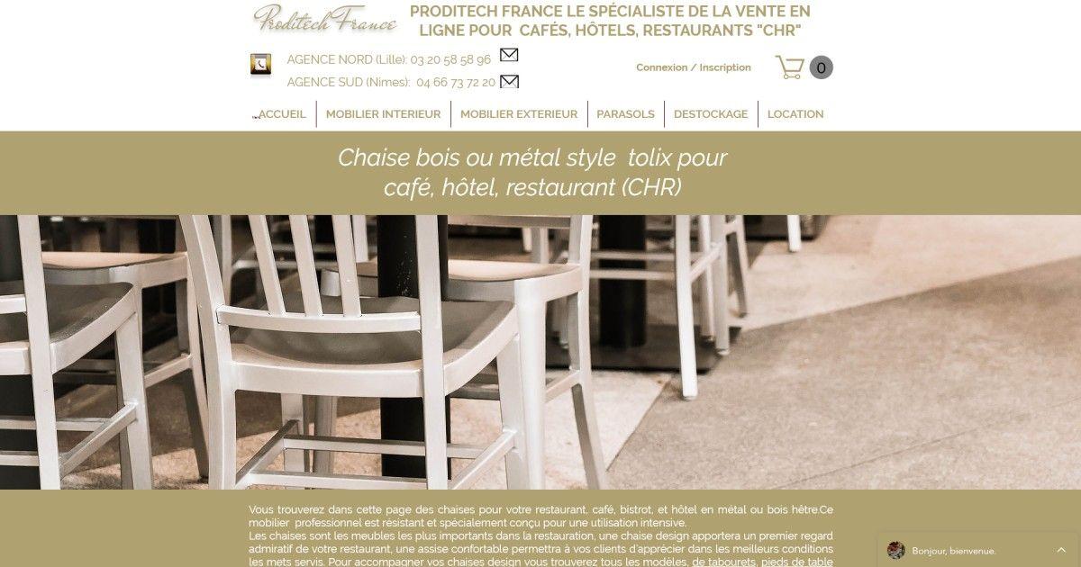 Le Site Proditech France Est Dans L Annuaire Netbois Mobilier Restaurant Table Et Chaises Location Chaise