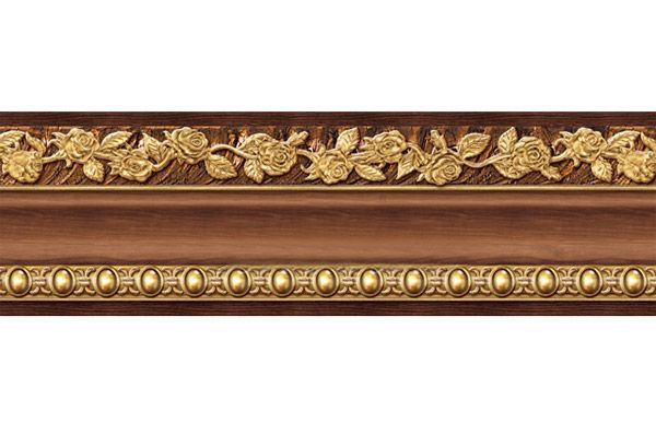 Wallpaper Borders Wood Peel Stick Wood Grain Gold Wall Moulding