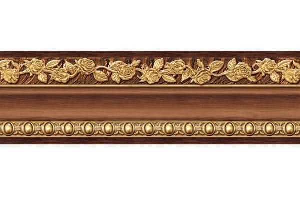 Wallpaper Borders Wood | Peel Stick Wood grain Gold Wall Moulding ...