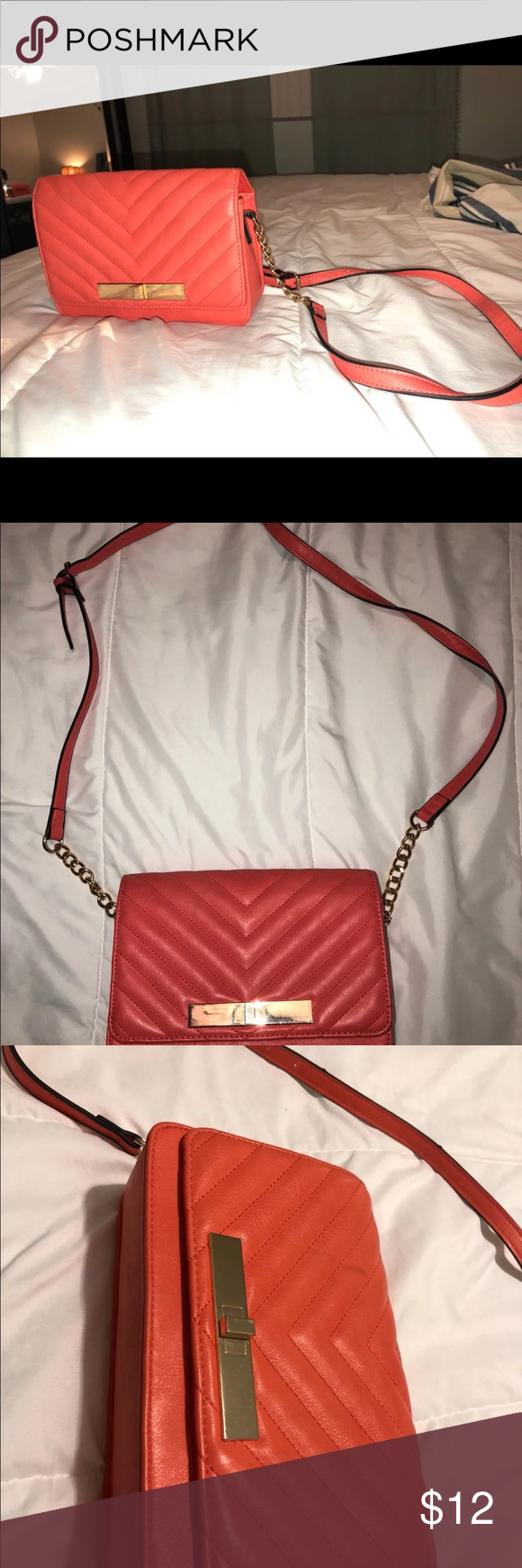 Coral Crossbody Purse Coral crossbody purse with inside pocket In fair  condition Call It Spring Bags c80551a449