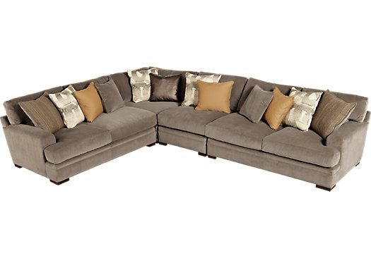Cindy Crawford Fontaine Brown 4pc Sectional Favorite