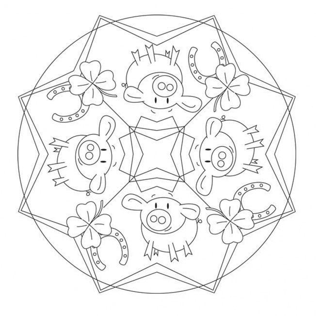 Lucky Charm Mandala Mandala Elementary Art Projects Elementary Art