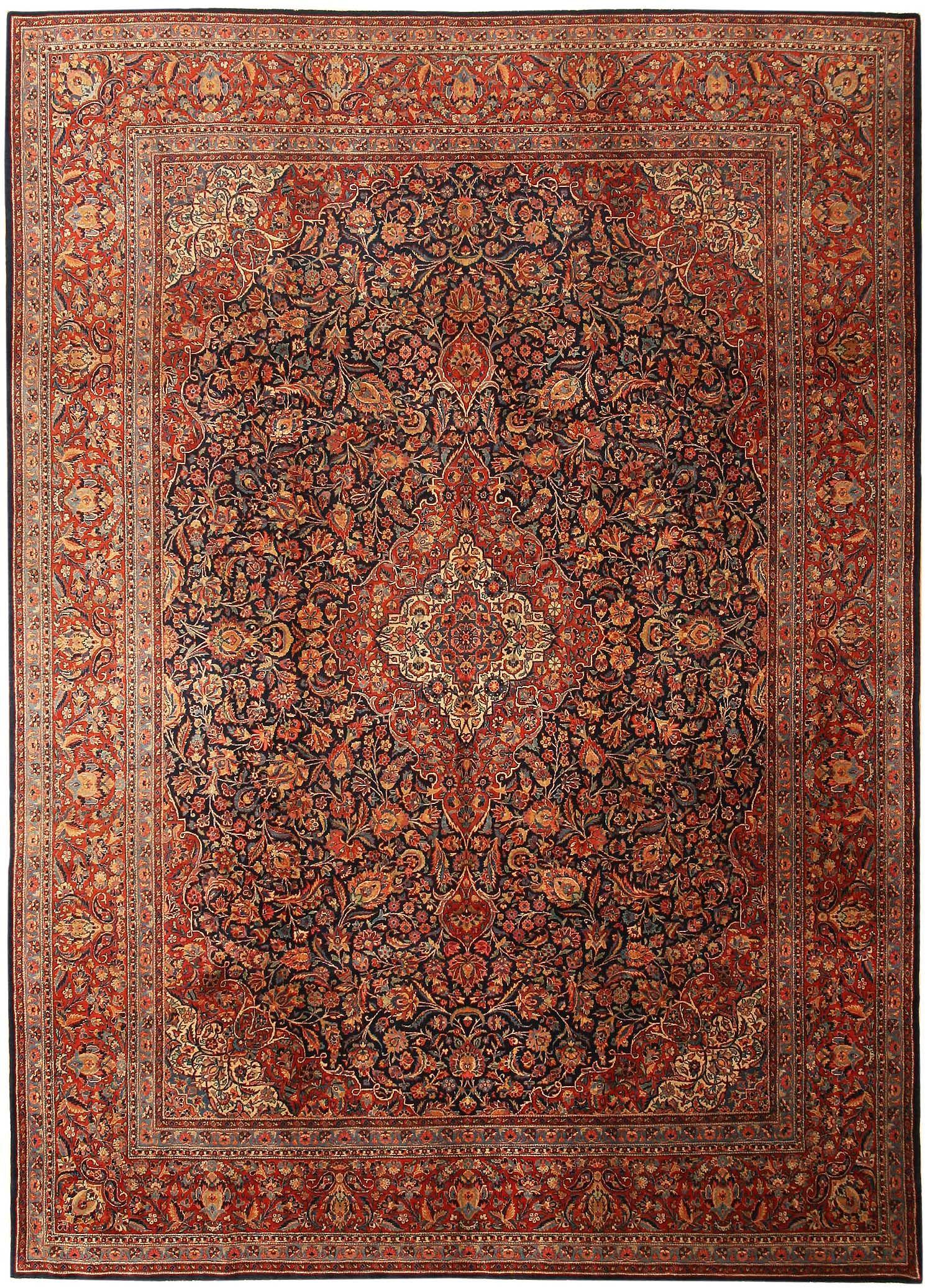 Kashan Tappeti antichi, Tappeto floreale e Tappeti kilim