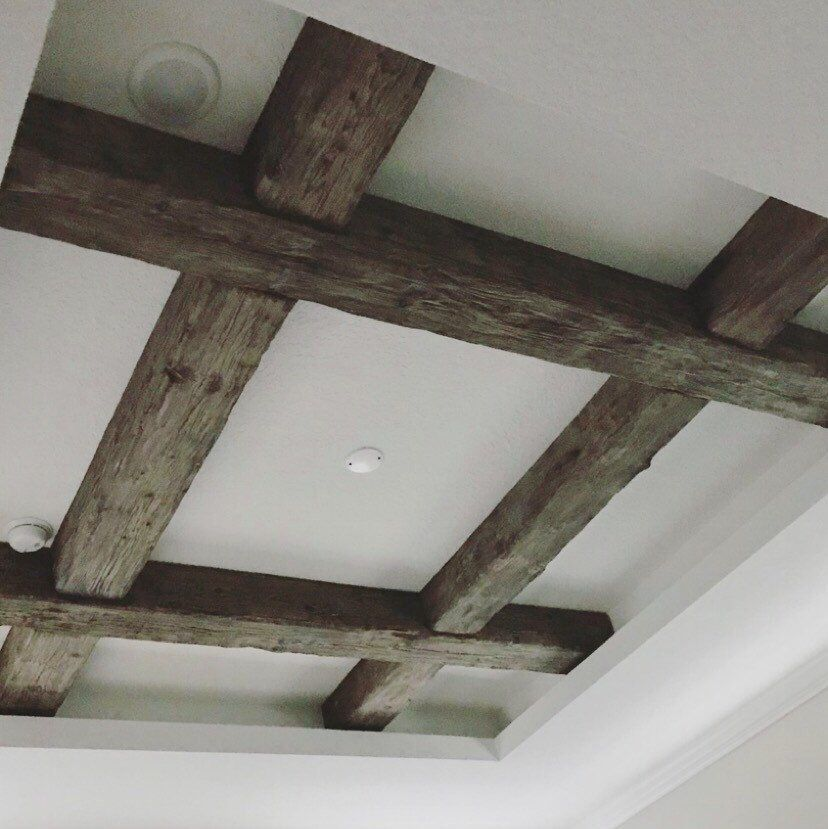 Exposed Wood Beams Made To Order Wood Beam Ceiling Living Room