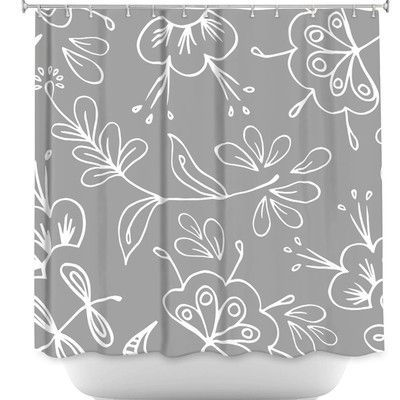 DiaNocheDesigns Flora Mix Shower Curtain