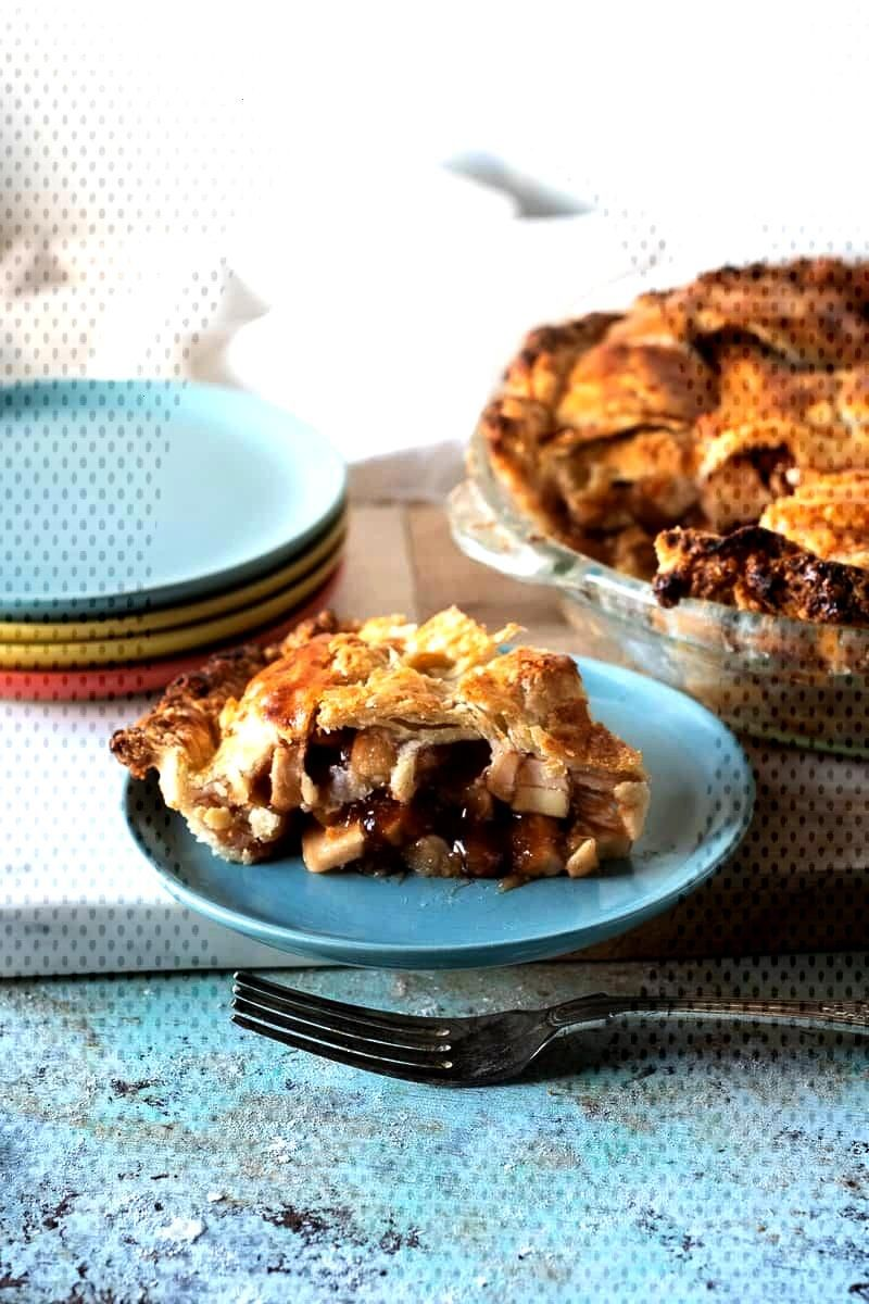 Apple Pie. Apples with cinnamon and brown sugar encased in a flaky, buttery crust. No soggy bottoms