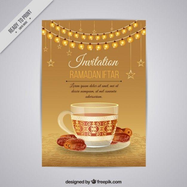 Beautiful golden ramadan iftar invitation free vector httpwww beautiful golden ramadan iftar invitation free vector httpfreepik stopboris Choice Image