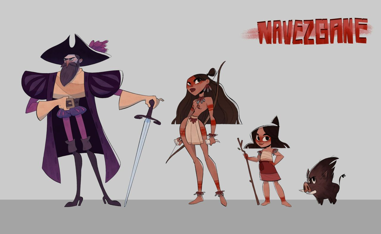 remade my navezgane characters from last year for my portfolio