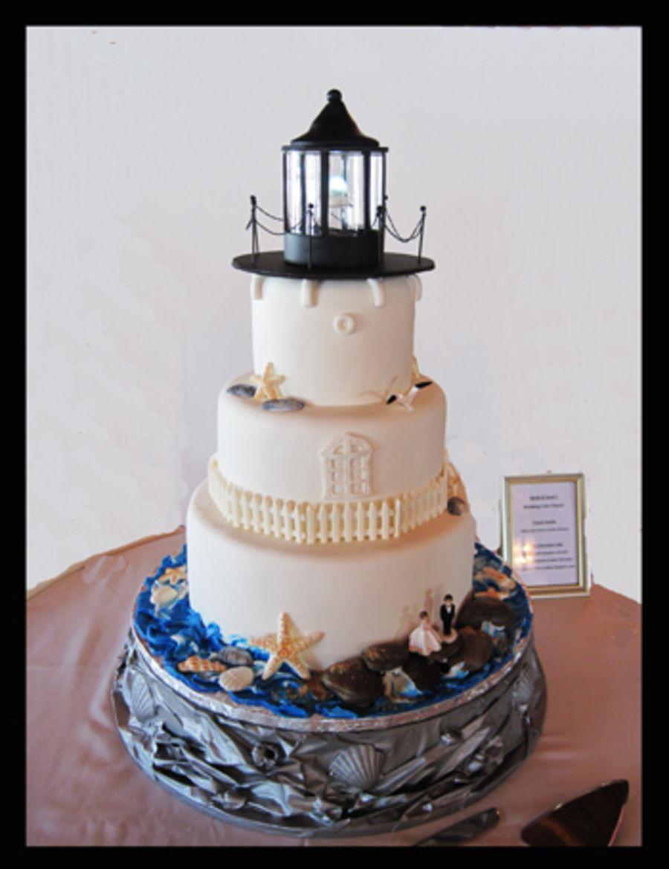 Lighthouse Wedding Cake | Cake Creations | Pinterest | Lighthouse ...