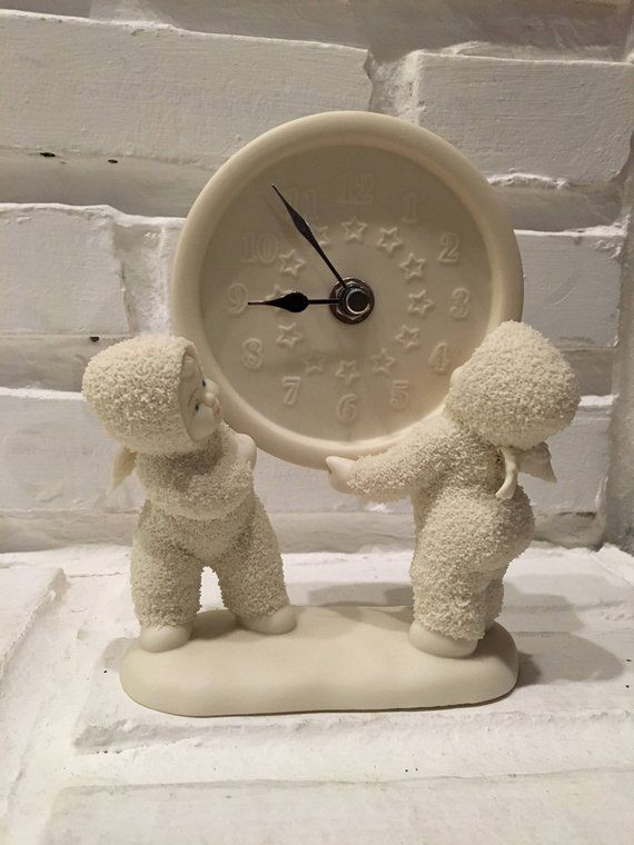 Snowbabies As Time Goes By Clock Figurine - Department 56 #department56