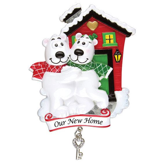 Personalized Christmas Ornament Newlywed Couple, New Home ...