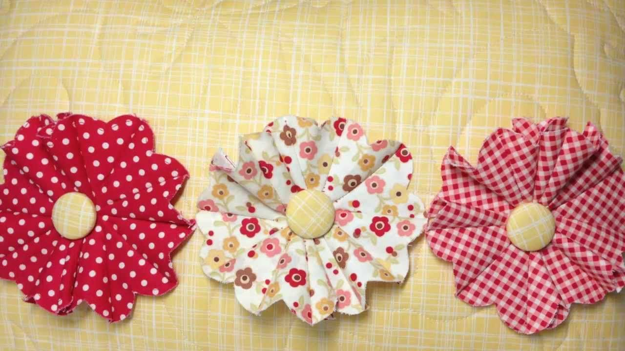 Fabric Flower Pattern New Design Ideas