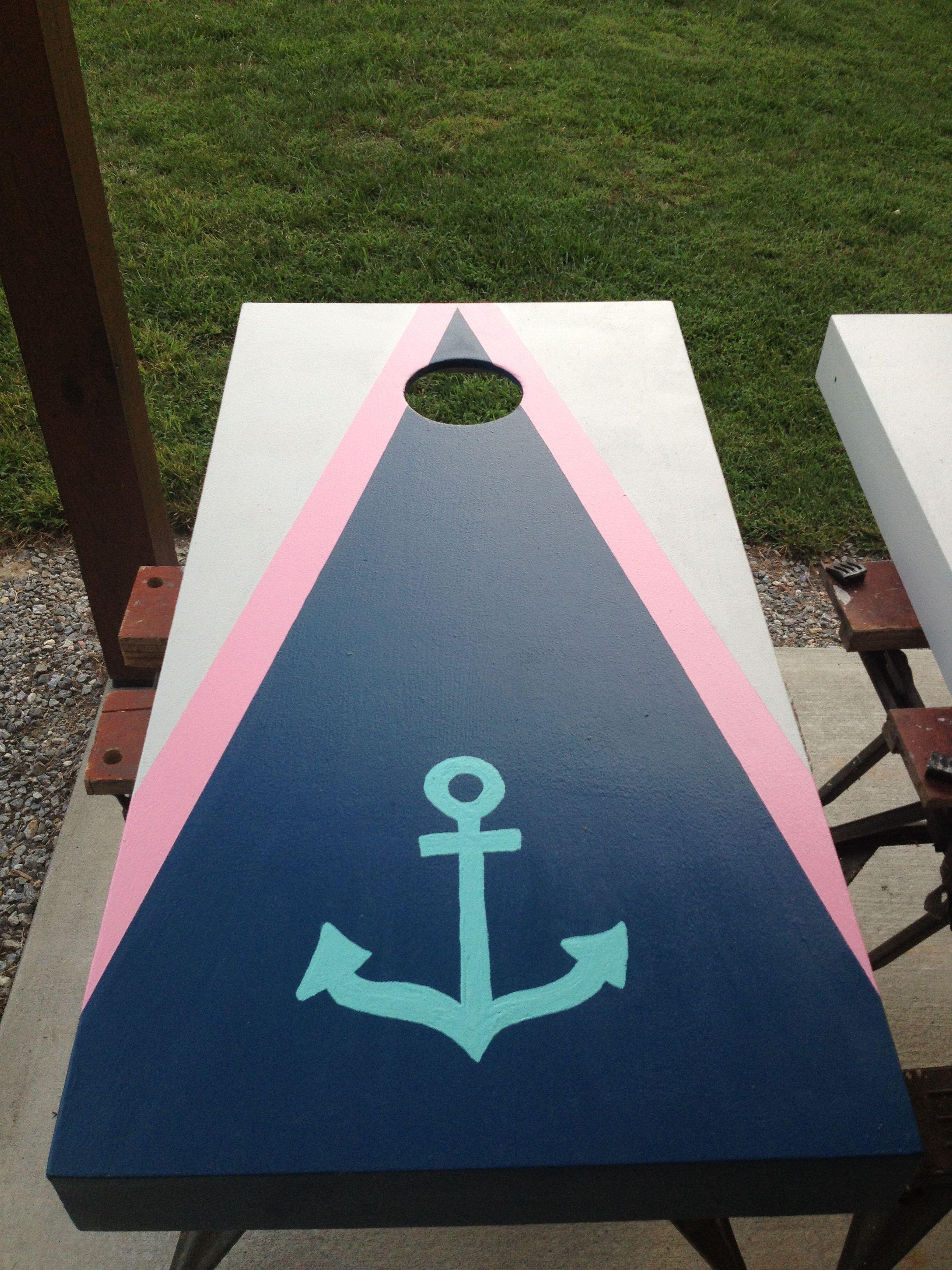 anchor cornhole board design   party ideas   cornhole boards