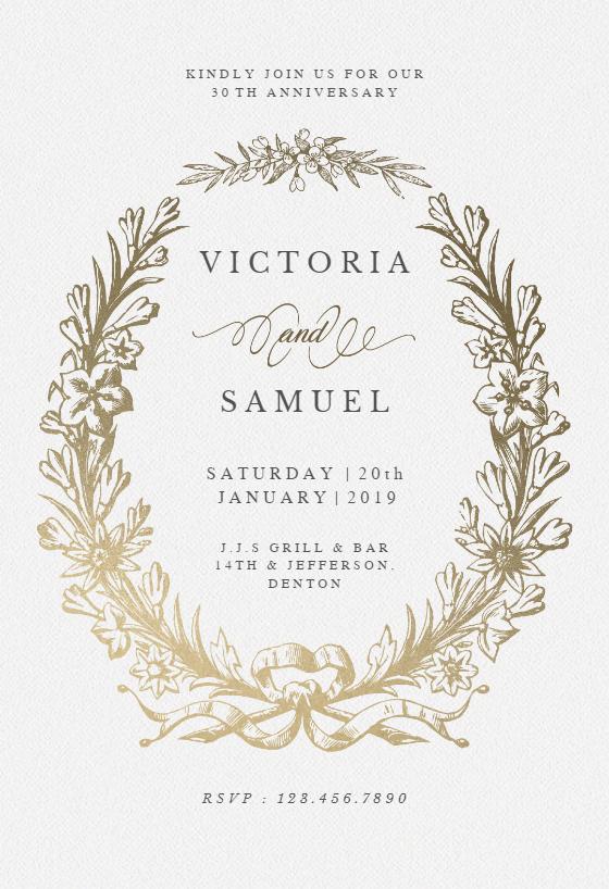 Anniversary Invitation Template Free