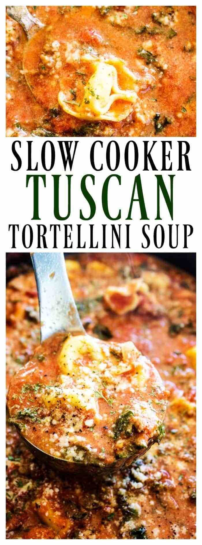 Photo of Slow Cooker Tuscan Tortellini Soup – A Dash of Sanity