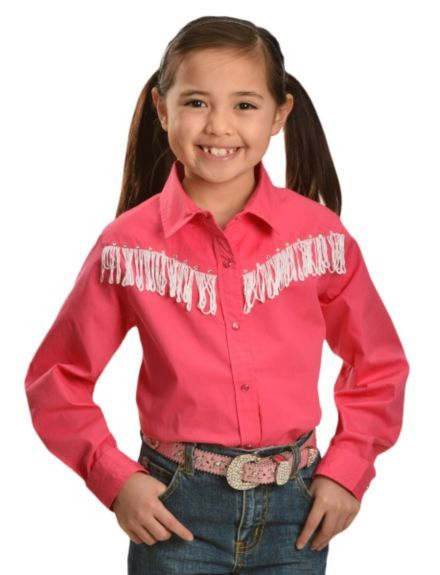 f596a7f13 Cumberland Outfitters Girls' Fringe Yoke Western Shirt - 5-16 available at # Sheplers