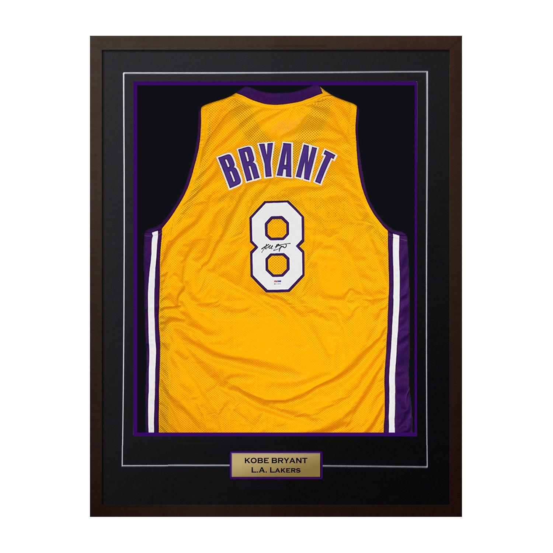 Kobe Bryant Los Angeles Lakers Autographed Yellow Custom Basketball Jersey Psa In 2020 Kobe Bryant Lakers Custom Basketball