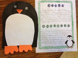 Penguin fact & opinion with a cute craftivity!