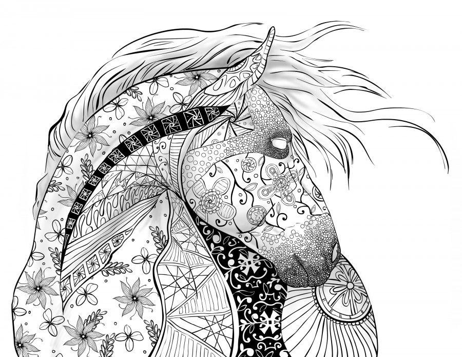 Horse Selah Works Adult ColouringAnimalsZentangles